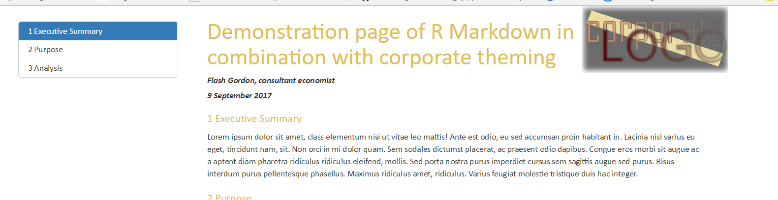R Markdown for documents with logos, watermarks, and corporate styles